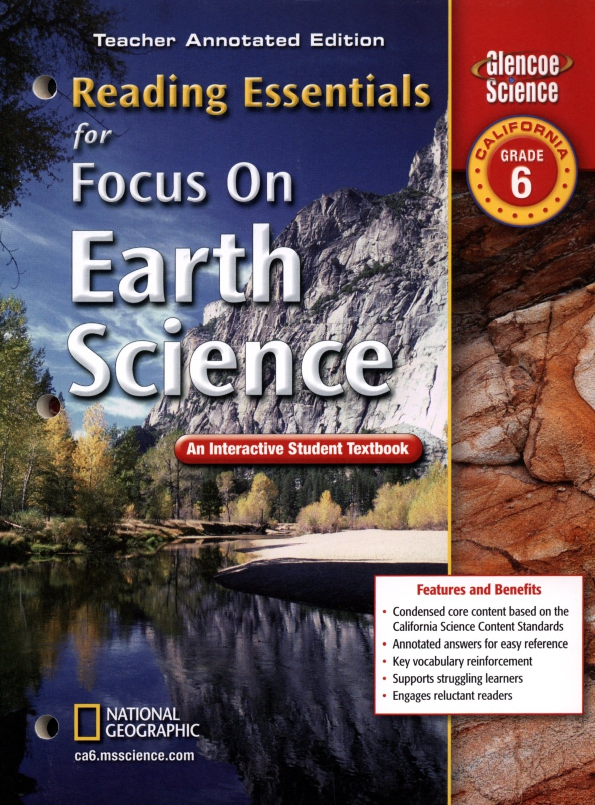 Glencoe Science Reading Essentials for Focus on Earth Science, California  Grade 6: Teacher Annotated Edition (Glencoe Science): Glencoe/McGraw-Hill:  ...