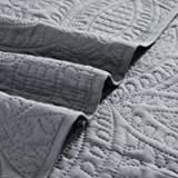 Mellanni Bedspread Coverlet Set Charcoal