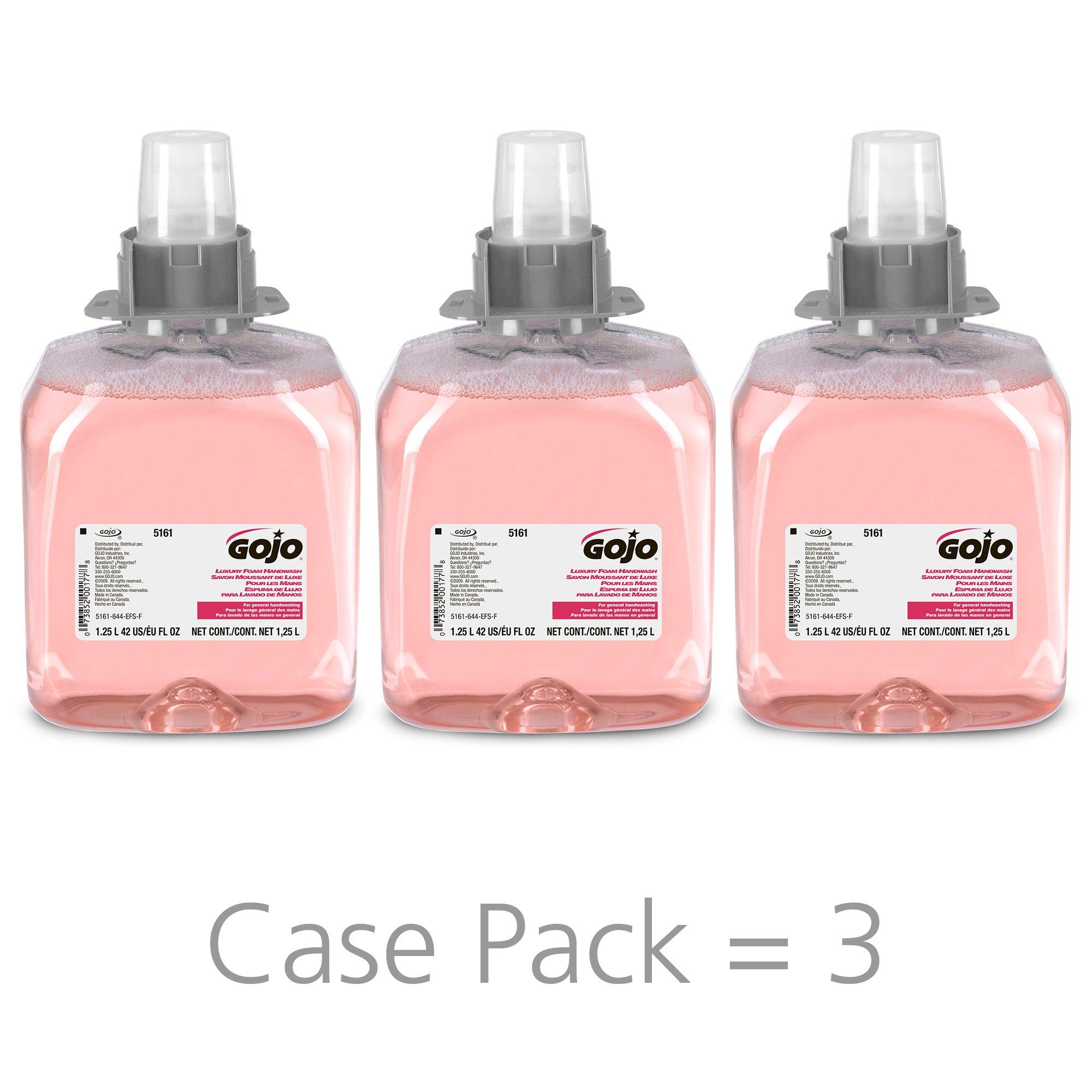 GOJO 5161-03 1250 mL Luxury Foam Handwash (3 per Case)