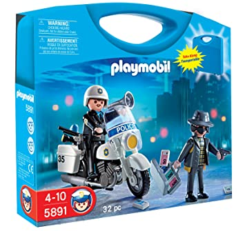 playmobil police carrying case