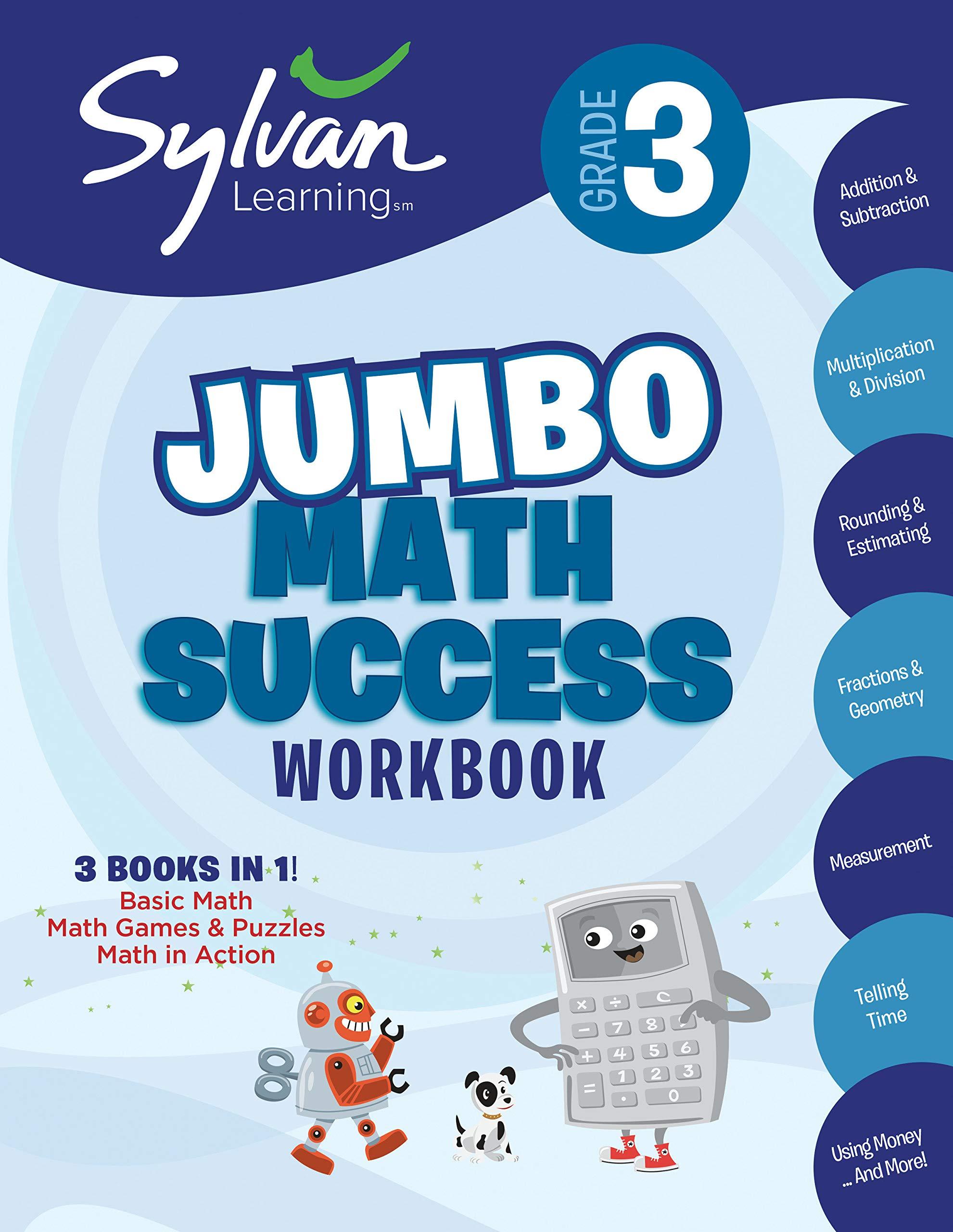 3rd Grade Jumbo Math Success Workbook: Activities, Exercises, and Tips to  Help Catch Up, Keep Up, and Get Ahead (Sylvan Math Super Workbooks): Sylvan  ...