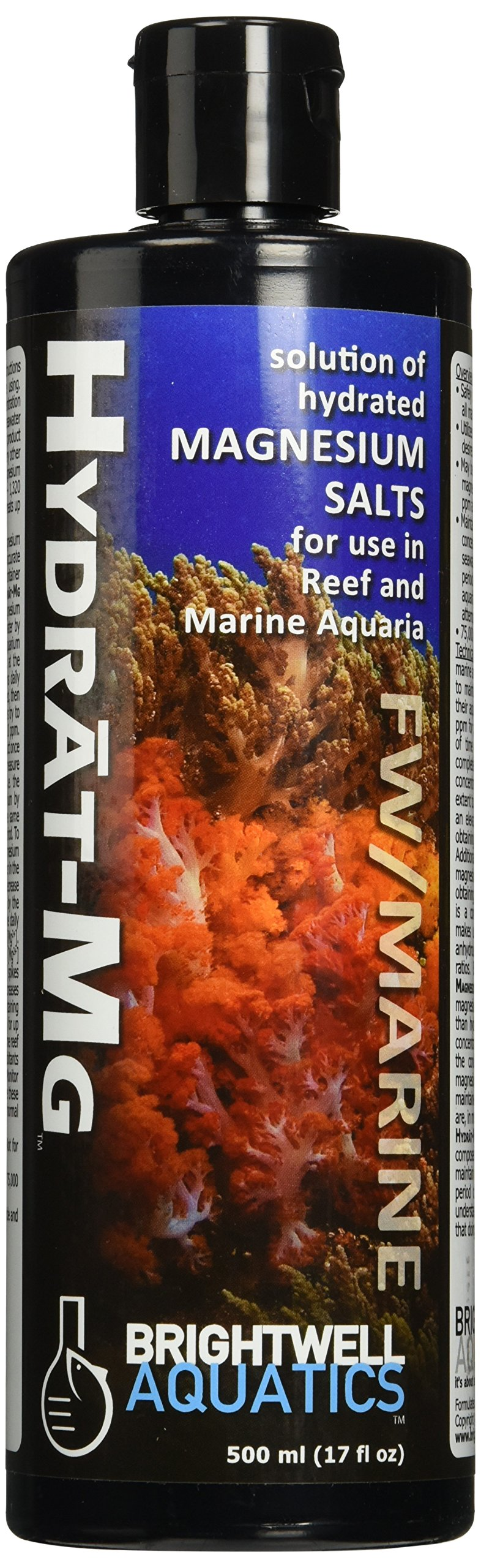 Brightwell Aquatics ABAHMG500 Hydrated Magnesium Salt Solution Water Conditioners for Aquarium, 17-Ounce