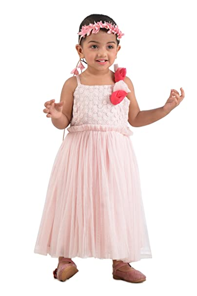 e430e36aeac5 KidsDew Kids Birthday Party Gown for Baby Girls Midi Maxi Frock ...