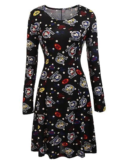 nouveau produit magasiner pour le meilleur réel classé Meaneor Robe de Noël Femme Imprimé Bonhomme de Neige Tunique ...