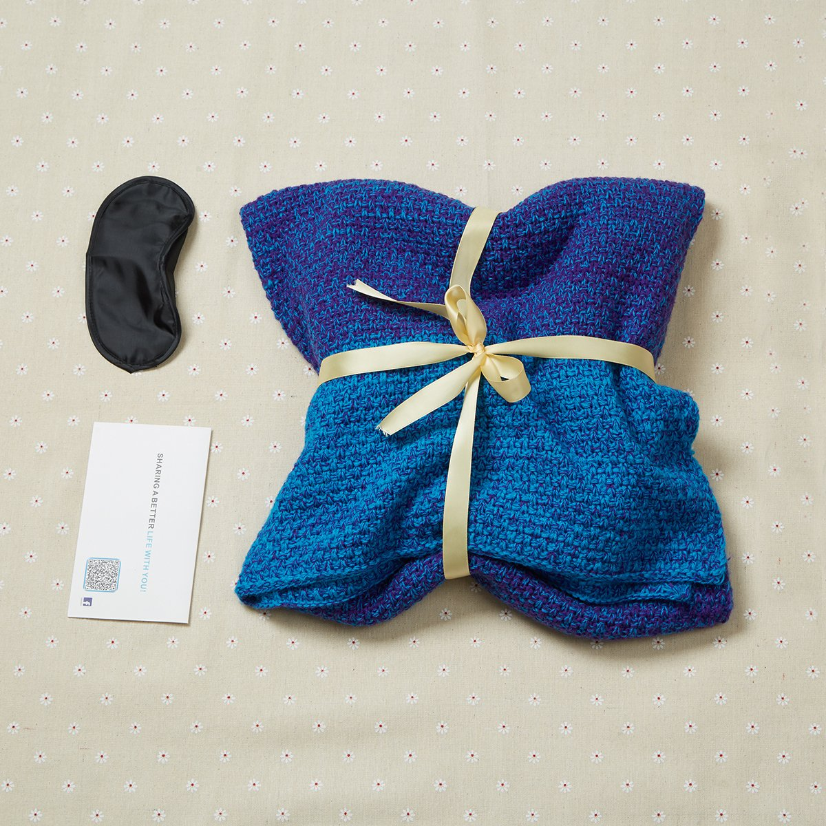 Hollow Out dise/ño Footed cerrado c/álido saco de dormir regalo con ojo m/áscara para adultos Cola de sirena manta