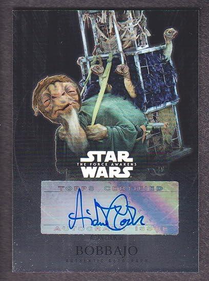 2016 Star Wars The Force Awakens Chrome Auto Aidan Cook as Bobbajo