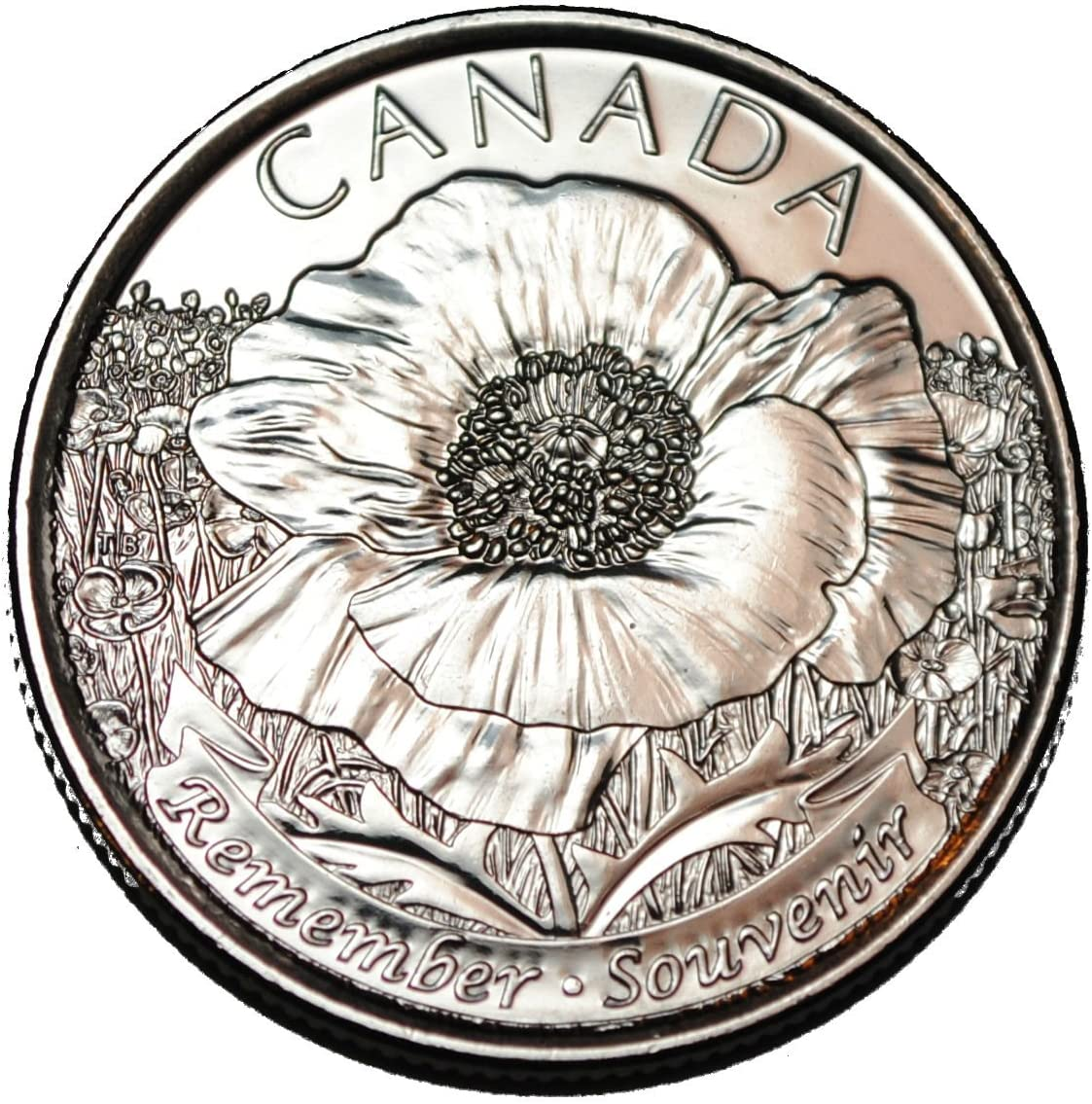 2015 CANADA 25 Cent Coin from Mint Roll UNC