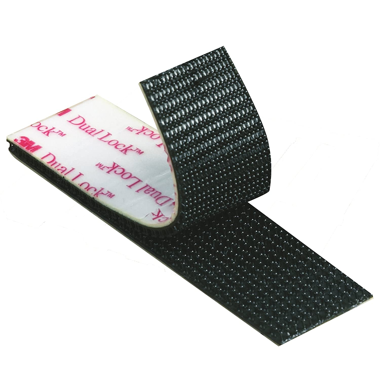 "3M 1/""x 4/""  Dual Lock SJ3550 Black Reclosable Fastener In//Outdoor 4 Strips"