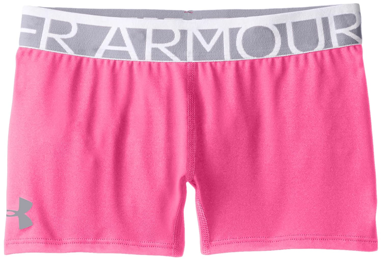 Under Armour Girls' HeatGear Armour 3 Shorty, Rebel Pink/Steel, Youth Medium Under Armour Apparel 1264660