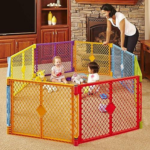 Toddleroo by North States Superyard Colorplay 8-Panel Play Yard