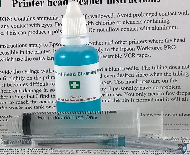 Inkjet Printers Printhead Cleaner for Artisan 1430 1410 1400 837 835 810 800 730 725 710 700 600 50 PHOTO 50 1390 R260 R280 R330 R380 RX580 RX595 RX680 - 1oz 30ml Cleaning Kit ... Print Head Geek
