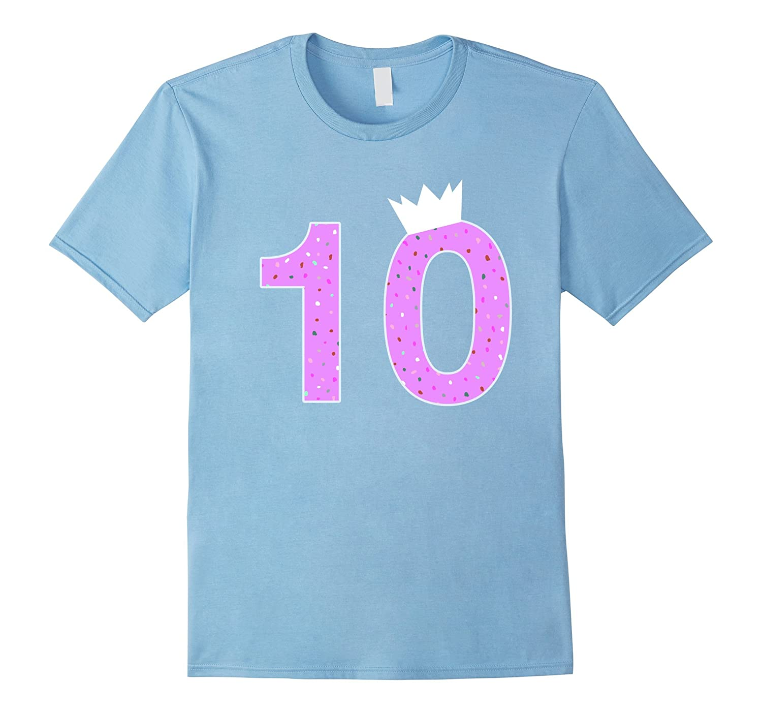 10th Happy Birthday T-shirt for New 10 Year Olds-TD
