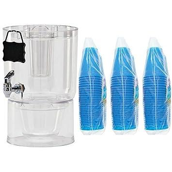 Buddeez - Dispensador de bebidas frías (2 unidades, 1,75 galones, transparente