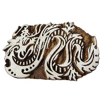 Drache indische Holz Textil Briefmarken aus Holz Drucken Block dekorative Block