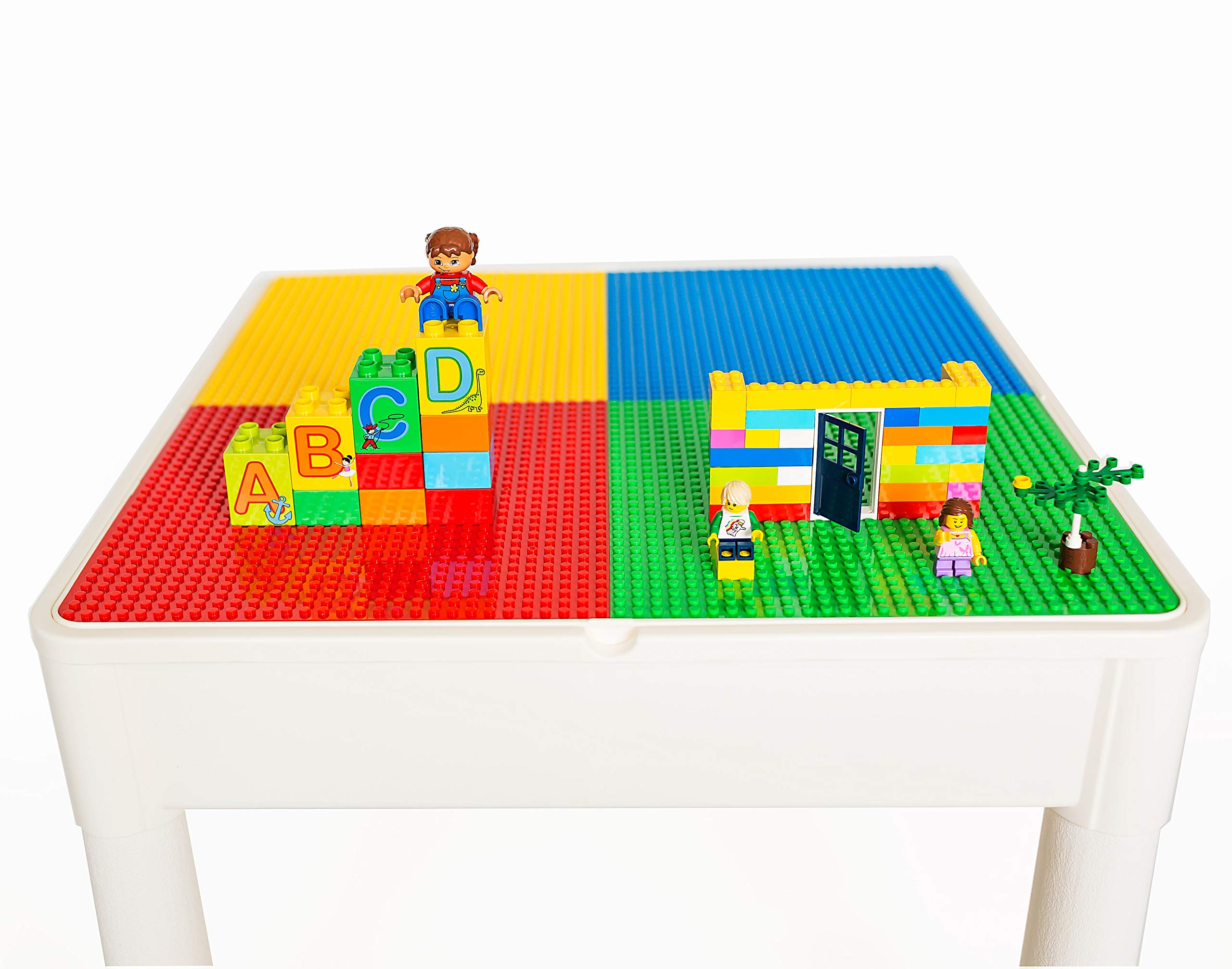 BUILDING BLOCK ACTIVITY TABLE WITH BLOCKS CHILDRENS FUN PLAY SET CONSTRUCTION