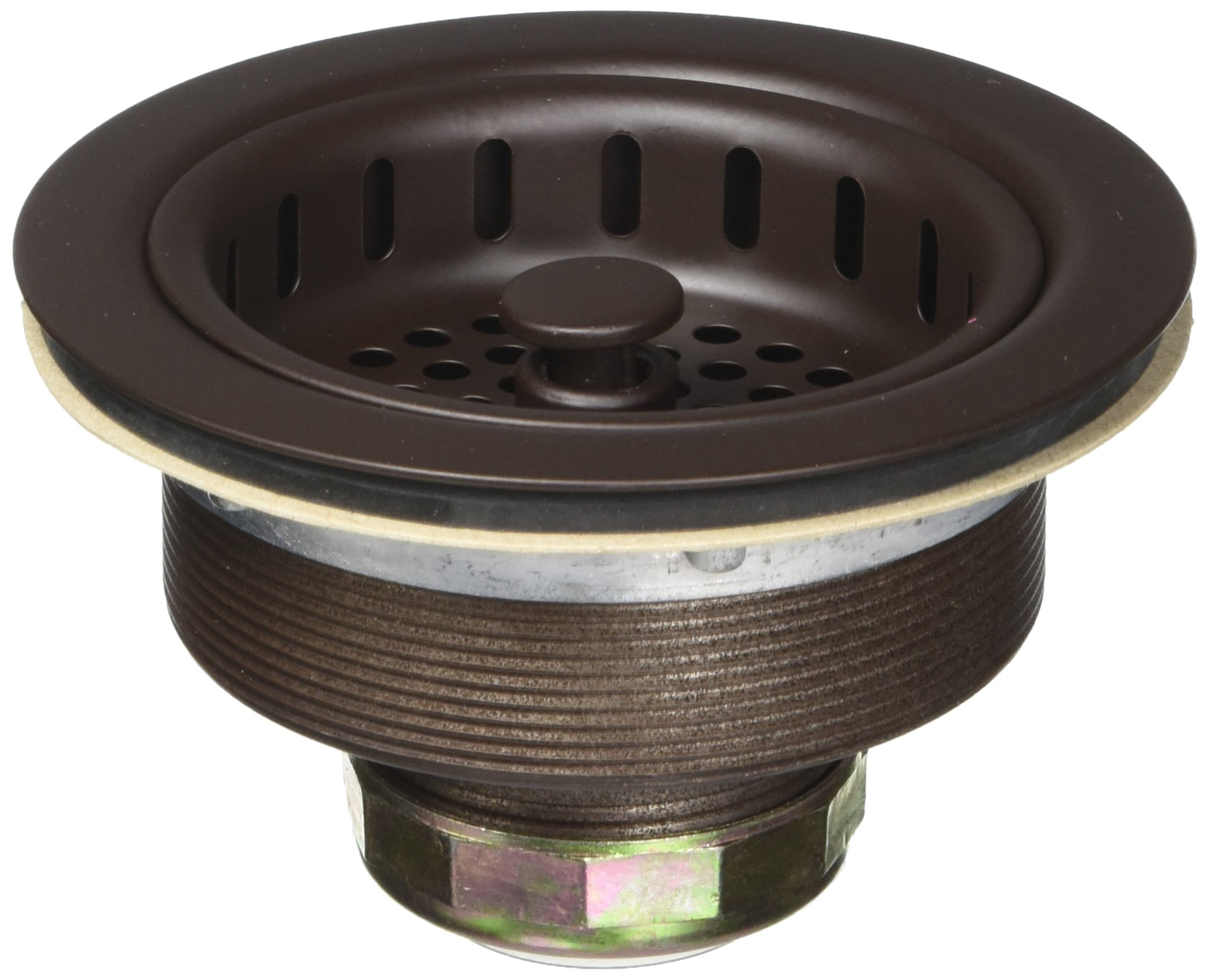 BrassCraft BC7150 BZ 3-1/2'' Post Style Basket Strainer with Nut and Washer in Oil Rubbed Bronze
