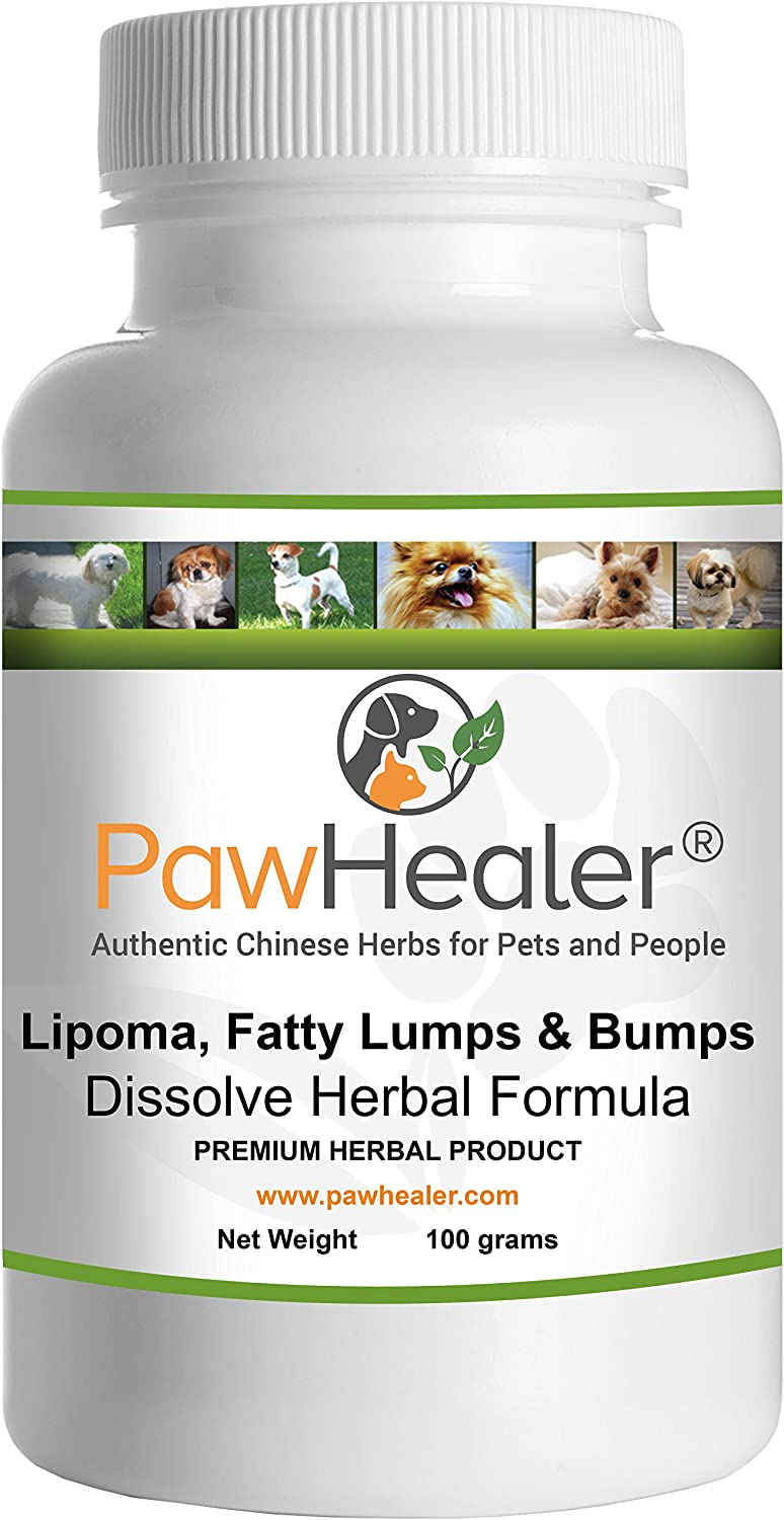 PawHealer Dissolve Herbal Formula - 100 Grams Powder - Remedy for Fatty Lumps & Bumps in Dogs & Pets …