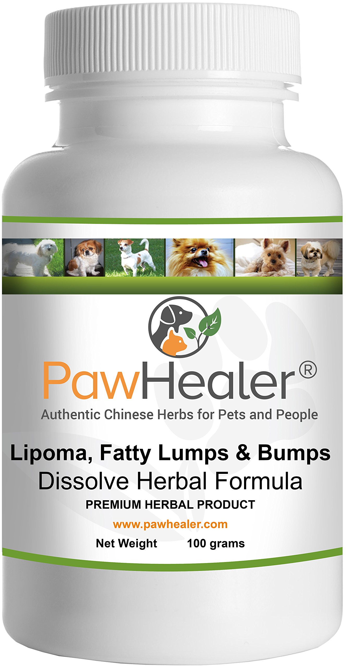 PawHealer® Dissolve Herbal Formula - 100 Grams Powder - Remedy for Fatty Lumps & Bumps in Dogs & Pets ... by PawHealer®