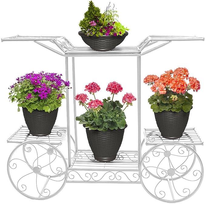 Jardín carrito soporte & macetas plantas soporte Display ...