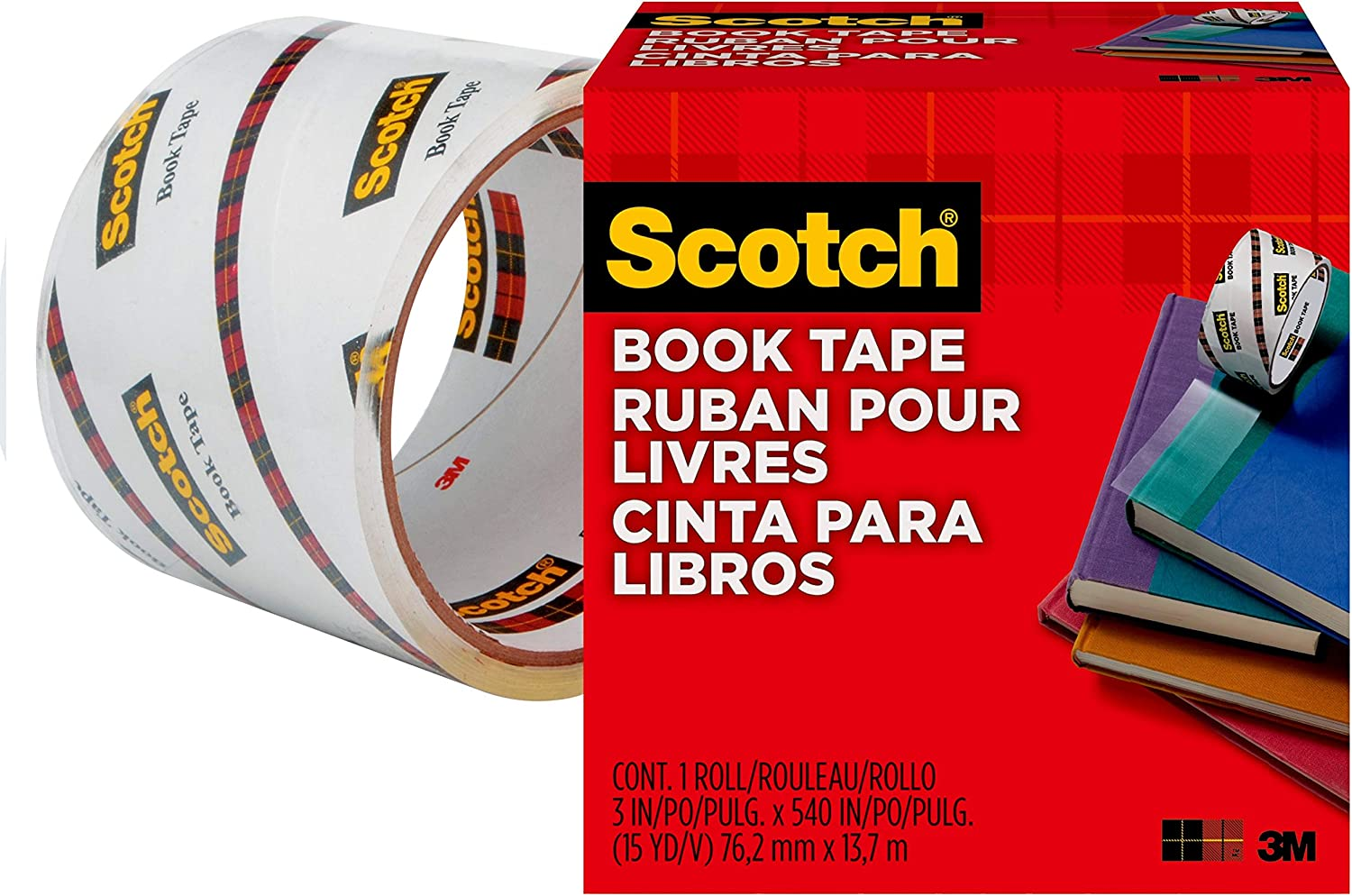 1-1//2 Inches x 15 Yards R New Version 3M 7382 Book Tape 845