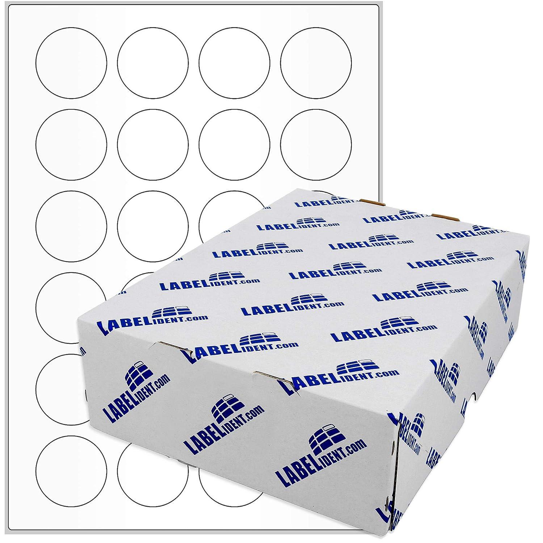 Papier weiß selbstklebend 500 Blatt 12000 Etiketten A4 Bogen 40 mm rund