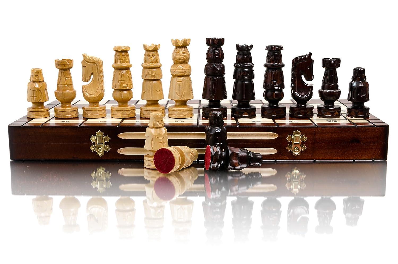 ADMIRAL 55cm / 22in gemeißeltes Holz Schach-Spiel, Handcrafted klassische Spiel
