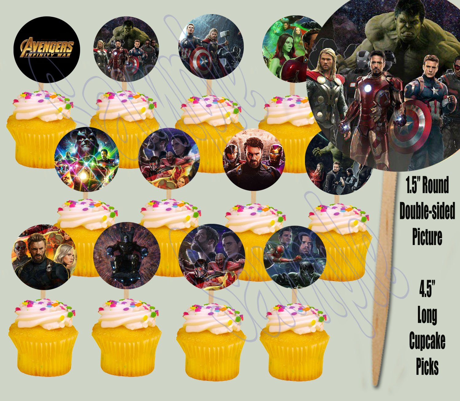 Amazon.com: Party Over Here Avengers Infinity War Movie Cupcake ...