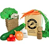 Mr. Sprout & Co Organic Vegetable Garden Kit - Vegetable Garden Seed Starter Kit For Kids, Adults Or Gift Idea- Includes Seeds For Cherry Tomatoes, Broccoli, Onions, Carrots, & Zucchini