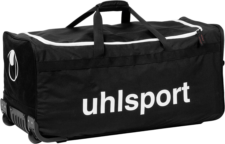 UHLSPORT - BASIC LINE 110 L SAC A ROULETTES - Sac à roulettes - Grande Contenance - noir/blanc