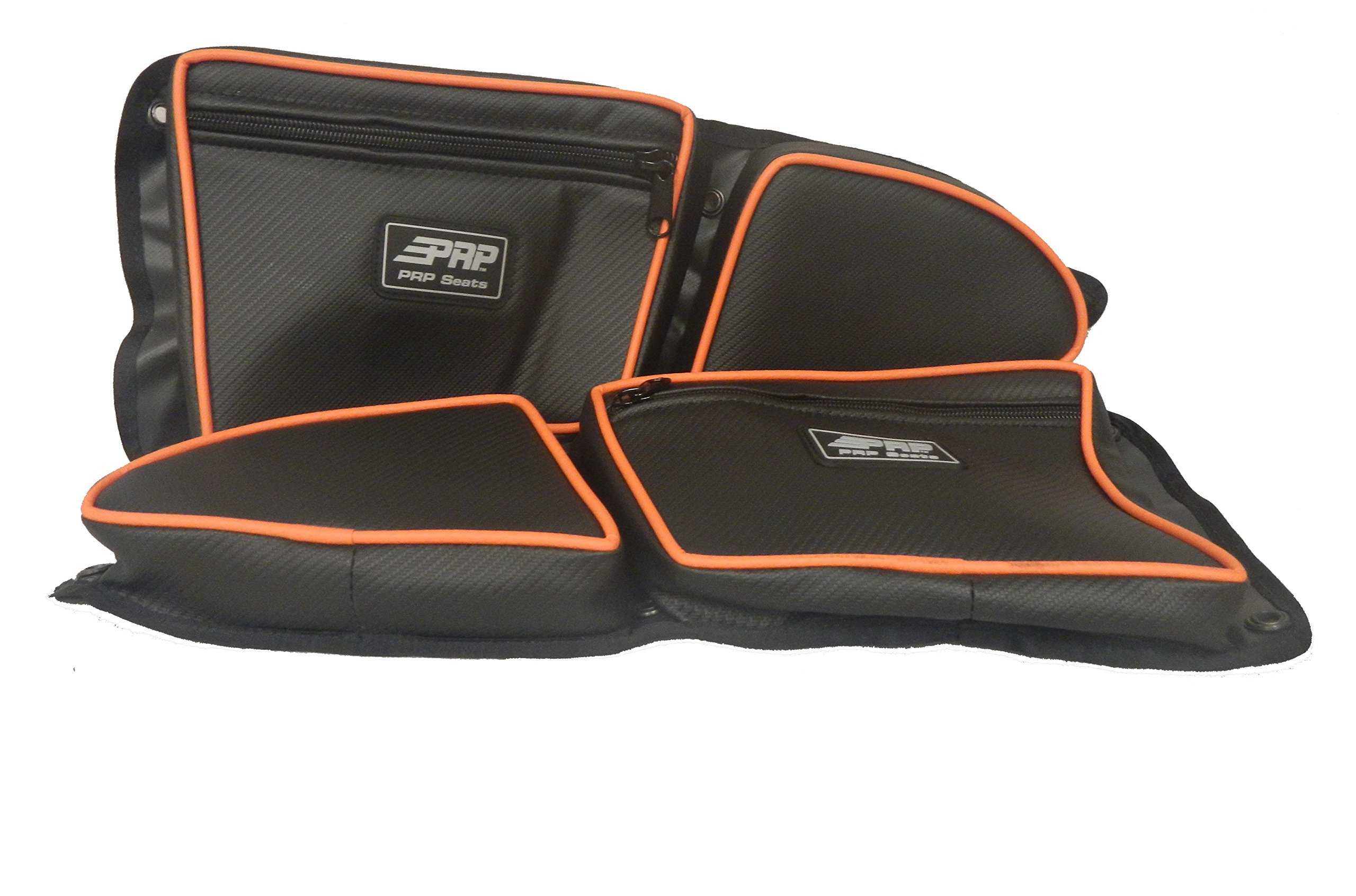PRP Door Bags SET 2 SEATER FRONT RZR 1000 XP1K 2015+ RZR900S 900XC ORANGE PIPING #E36-37215 by Adrenaline Cycles (Image #3)