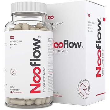 Vitaminas para el Cerebro Nooflow Absolute Mind Premium | Para Concentración, Memoria, Aprendizaje, Ánimo, Energía y Salud | 100% Natural Mezcla ...