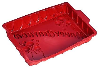 Moldes, Silicona 33 x 22 x 5 cm Grande Molde de Silicona para repostería (