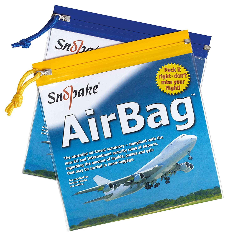 Snopake 15158 Air Bag Reißverschlusstasche PVC 200x200mm 5 Stück farblich sortiert