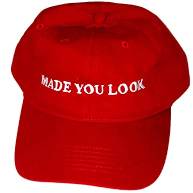 Image Unavailable. Image not available for. Color  Made You Look Red Hat ... fda1edbe4dd