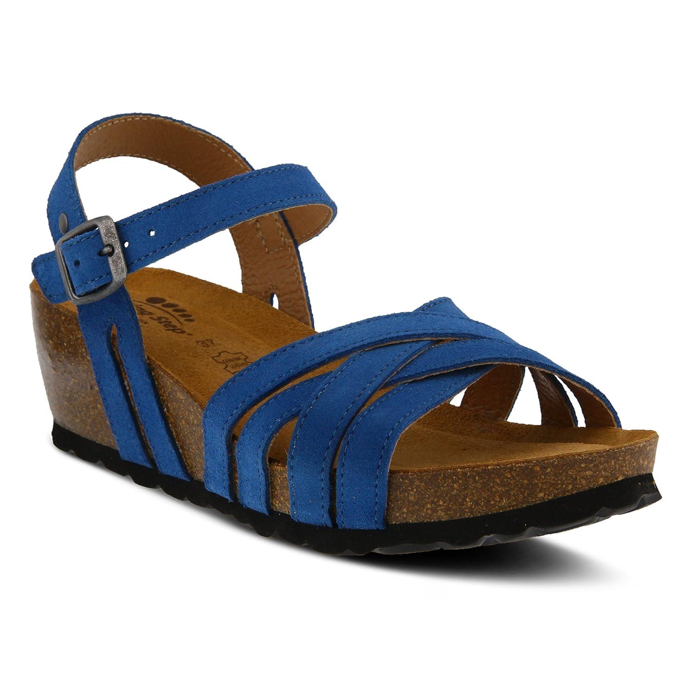 Spring Step Women's Style Eryn Leather Sandal B07C8FPM9Q 39 EU M/ US 8.5|Blue