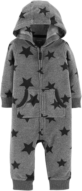 2acb519e5 Amazon.com  Carter s Baby Boys  Hooded Fleece Jumpsuit  Clothing