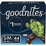 GoodNites Bedtime Bedwetting Underwear for Boys, Small/Medium, 44 Count