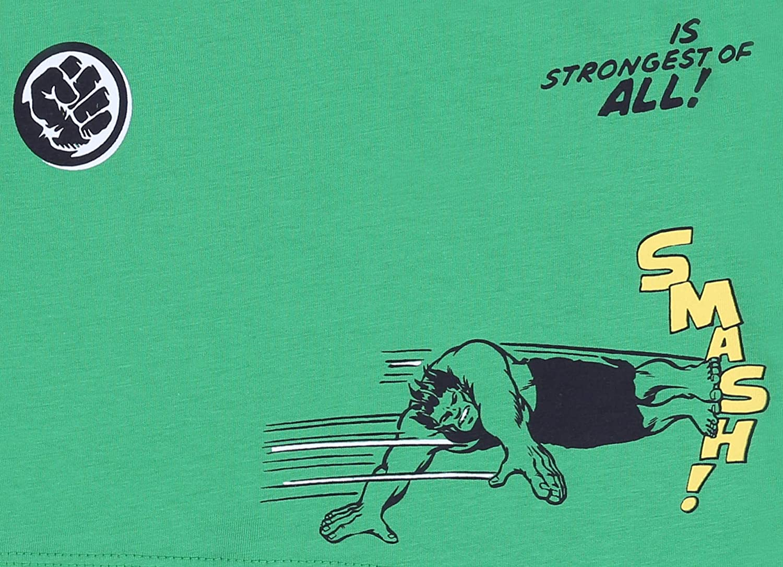 t-Shirt Hulk Marvel Maglietta Verde