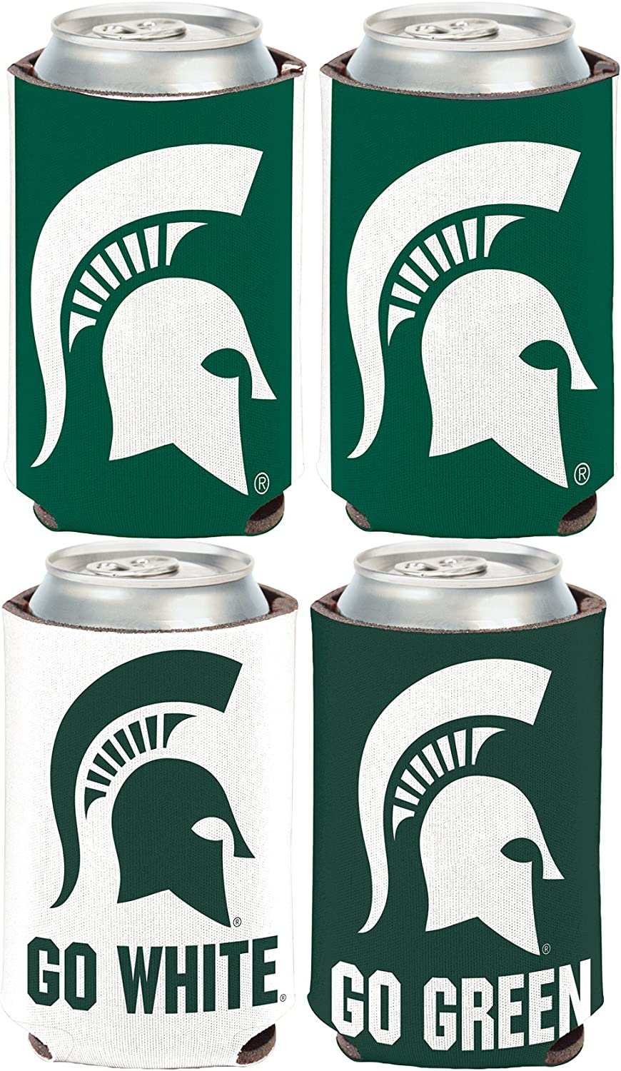 WinCraft NCAA Michigan State Spartans 2 Pack 12 oz 2-Sided Can Coolers
