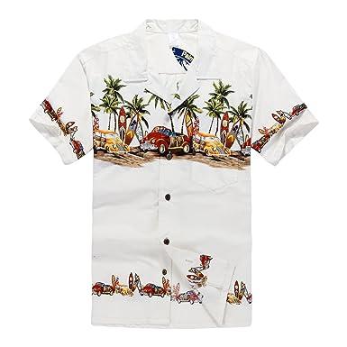 Hombres Aloha camisa hawaiana en Coches antiguos Palmeras ...