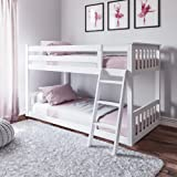 Max & Lily Twin Low Bunk Bed, White