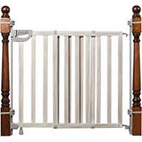 """Summer Wood Banister and Stair Safety Baby Gate, Birch Stain with Gray Accents – 33"""" Tall, Fits Openings of 33"""" to 46…"""