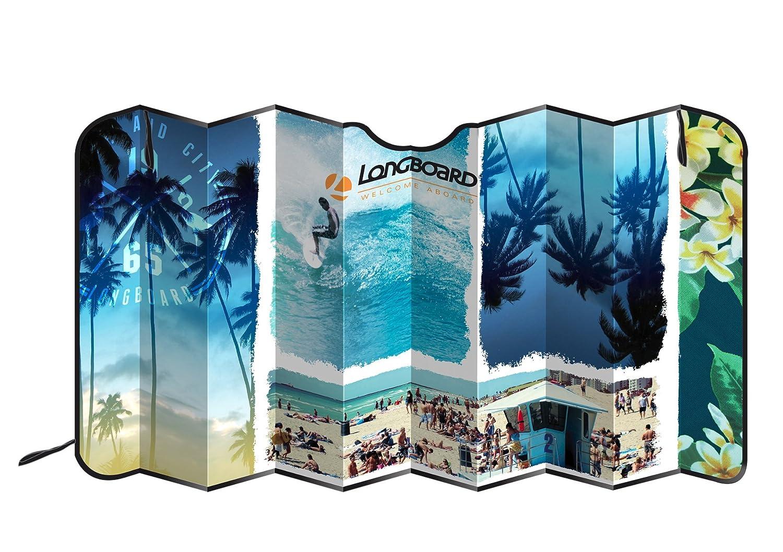 Longboard 078080 Beach Pare-Soleil Avant Aluminium Isolant M IMPEX SAS