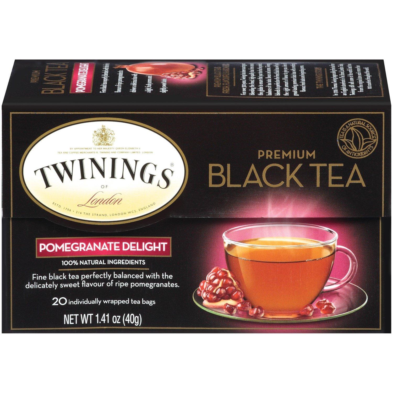 Twinings of London Premium Black Tea Pomegranate Delight 20 BAG (Pack of 12)