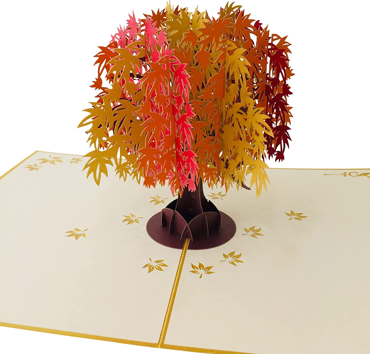 Maple Tree Fall by DEVINE Popup Cards   Happy Wedding Anniversary Card for Wife Husband Mom Dad  Romantic 3D Mothers Day Card Girlfriend Boyfriend  Pop Up Birthday Card for Women  Love Pop Up Gifts…
