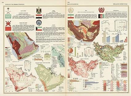 Amazon world atlas 1967 states of the arabian peninsula iran world atlas 1967 states of the arabian peninsula iran afghanistan pergamon world gumiabroncs Choice Image