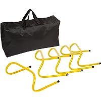 Obstáculos de entrenamiento de velocidad–Pack de 5con funda–por Trademark Innovations (15.2cm)
