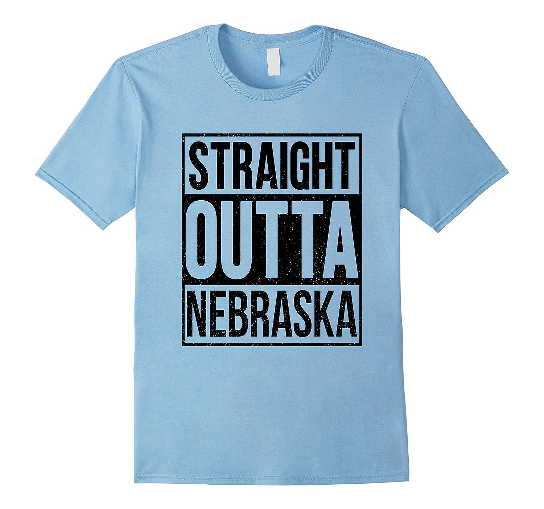 Straight Out Of Nebraska Funny T-Shirt-FL