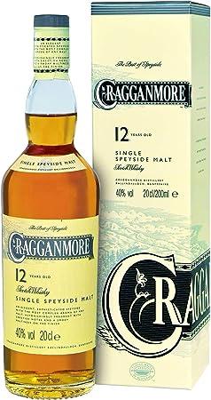 Cragganmore 701742 - Botella de Whisky (12 años/años, 2 Unidades, 40%, 200 ml)