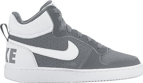 Nike Court Borough Mid (GS), Zapatillas de Baloncesto Unisex niños, Gris (